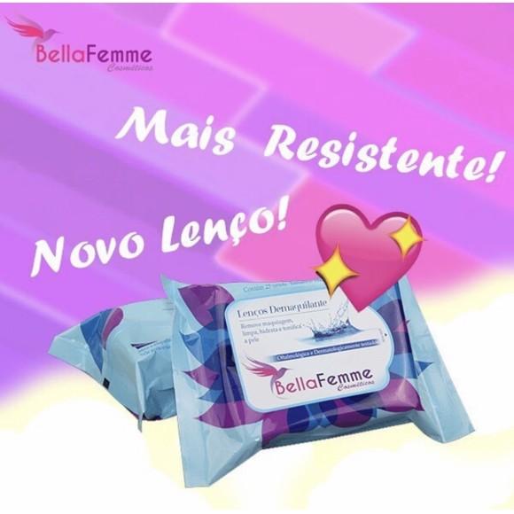 BF10024 LENÇO DEMAQUILANTE BELLA FEMME C/ 12